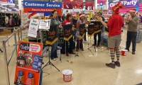 Carolling at Tesco 2014