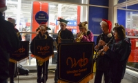 Carolling at Tesco 2015